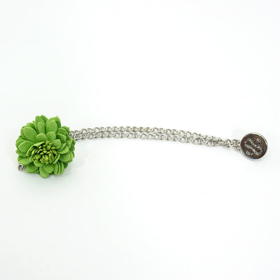 Lime Green Lapel flower Chain Pin