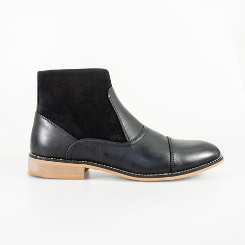 Halifax Black Side Zip Boots