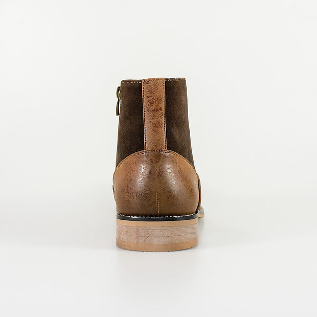 Halifax Brown Side Zip Boots