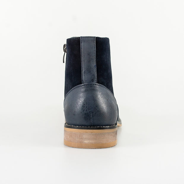Halifax Navy Side Zip Boots