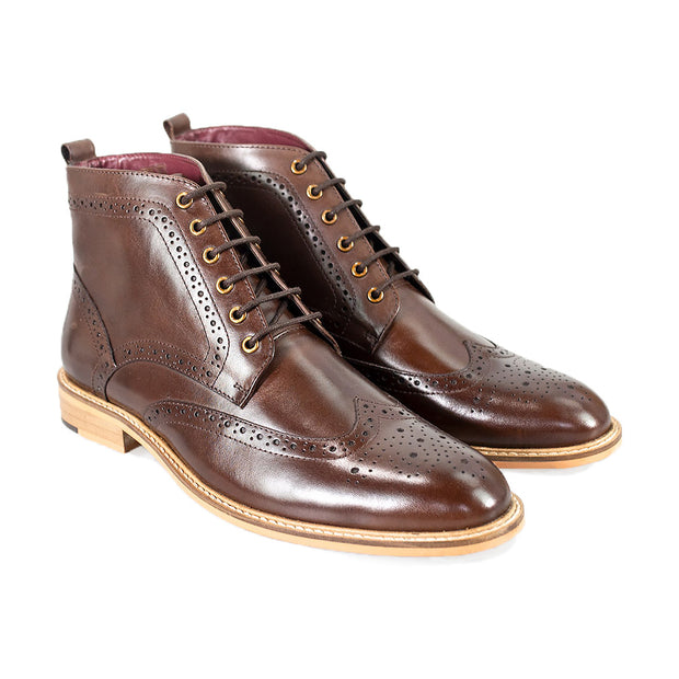 Holmes Brown Signature Lace Up Boots
