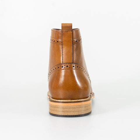 Holmes Tan Signature Lace Up Boots