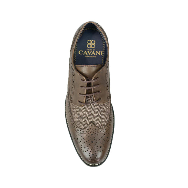 Horatio Brown Tweed Brogue Shoes