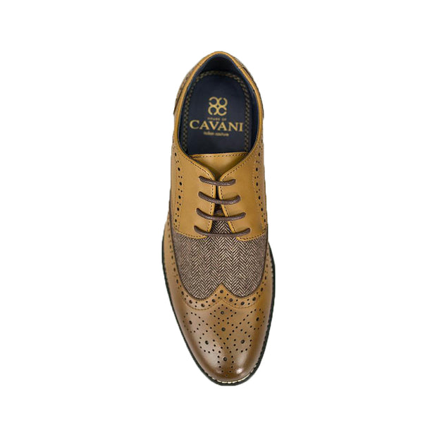 Horatio Tan Tweed Brogue Shoes