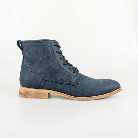 Hurricane Navy Lace Up Boots