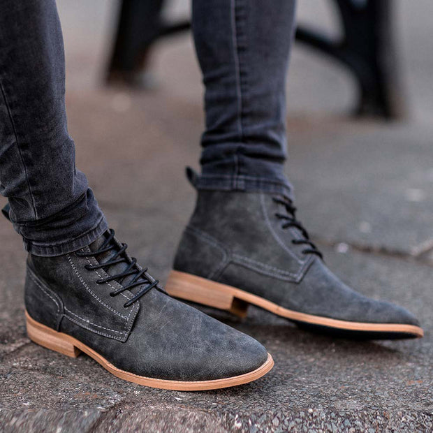 Hurricane Grey Lace Up Boots
