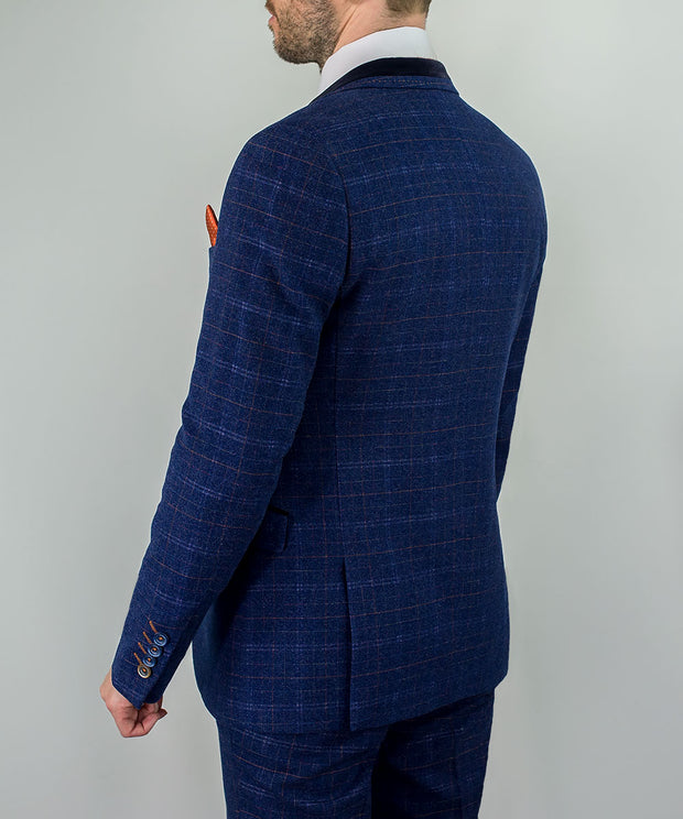 Kaiser Blue Tweed Three Piece Suit
