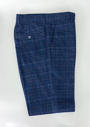 House Of Cavani Kaiser Blue Tweed Check Trousers