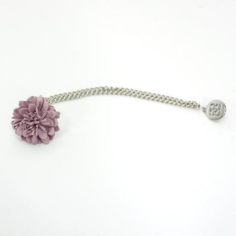 Lilac Lapel flower Chain Pin
