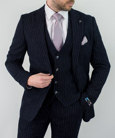 Lopez Signature Pin Stripe Suit