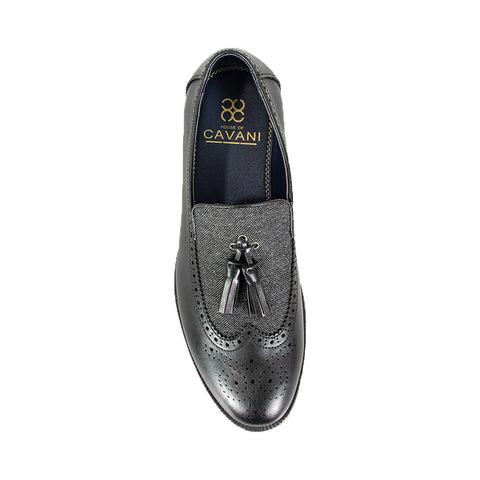 Lucius Black Loafers