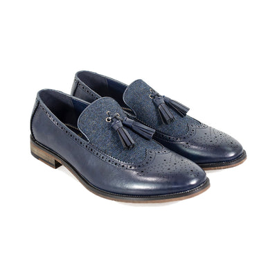 Lucius Navy Loafers
