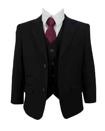 House Of Cavani Marco Black Boys Wedding Suit