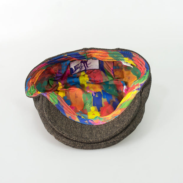 Martez Brown Tweed Flat Cap