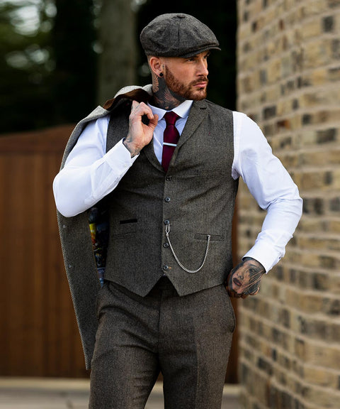 Martez Brown Tweed Suit