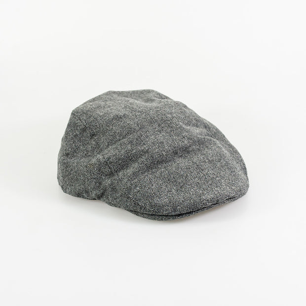 Martez Grey Tweed Flat Cap