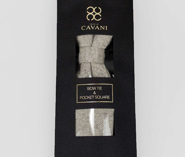 Martez Light Grey Bow Tie Set - Cavani