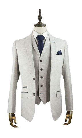 Martez Light Grey Suit