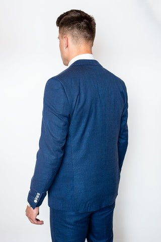 Miami Blue Slim Fit Three Piece Suit