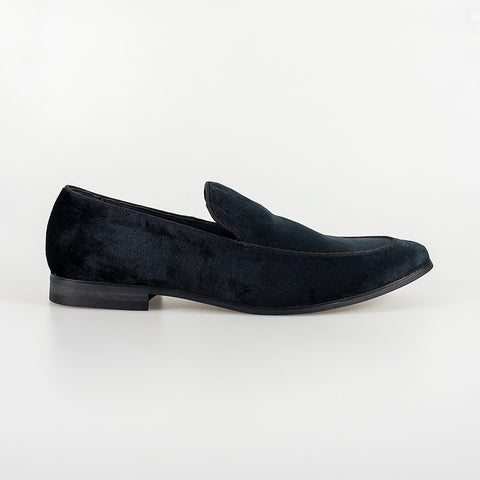 Milan Navy Velvet Loafers