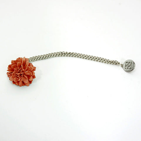 Orange Lapel flower Chain Pin