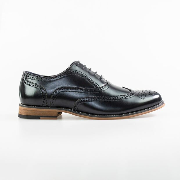 Oxford Black Brogue Shoes