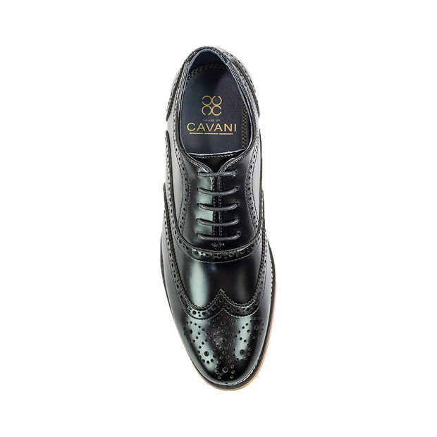 Oxford Xl Black Brogue Shoes