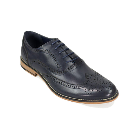 Oxford Navy Brogue Shoes