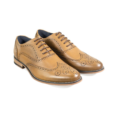 Oxford Xl Tan Brogue Shoes