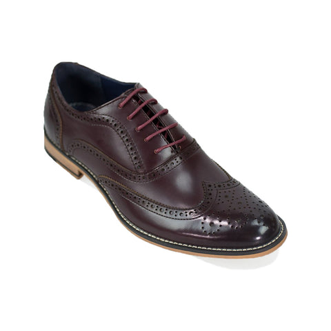 Oxford Wine Brogue Shoes
