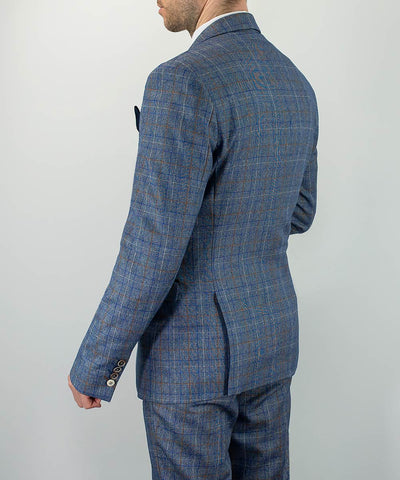 Pacific Blue Check Slim Fit Suit