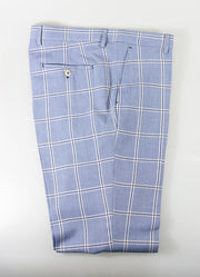 Paradise Sky Blue Check Three Piece Suit