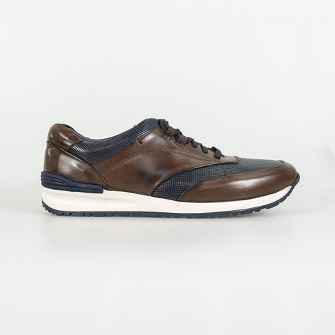 Portland Brown Navy Smart Trainers