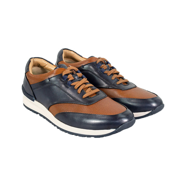 Portland Tan Navy  Smart Trainers