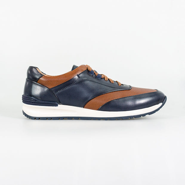 Portland Navy Tan Smart Trainers