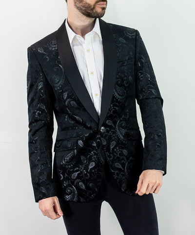 Rodolfo Black Slim Fit Blazer