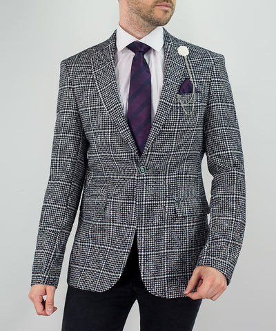Ralph Black White Check Blazer
