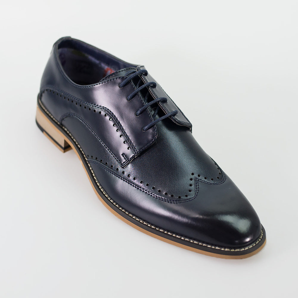 House Of Cavani Revel Navy Shoes Lace Up Smart Formal Wedding