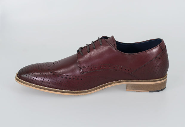 Rome Cherry Brogue Shoes