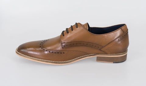 Rome Tan Shoes - Cavani