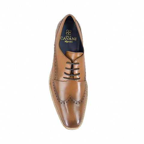 Rome Tan Brogue Shoes