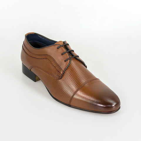 Ryan Tan Leather Signature Shoes