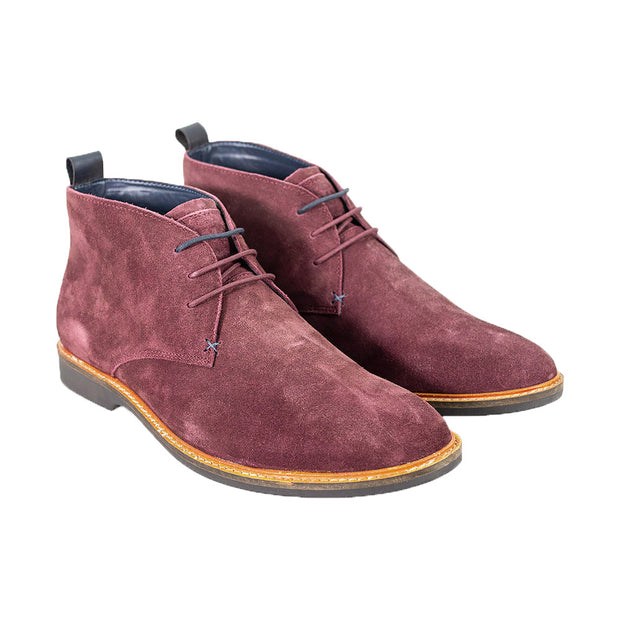 Sahara Burgundy Suede Boots