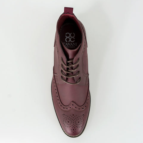Sava Wine Lace Up Boots