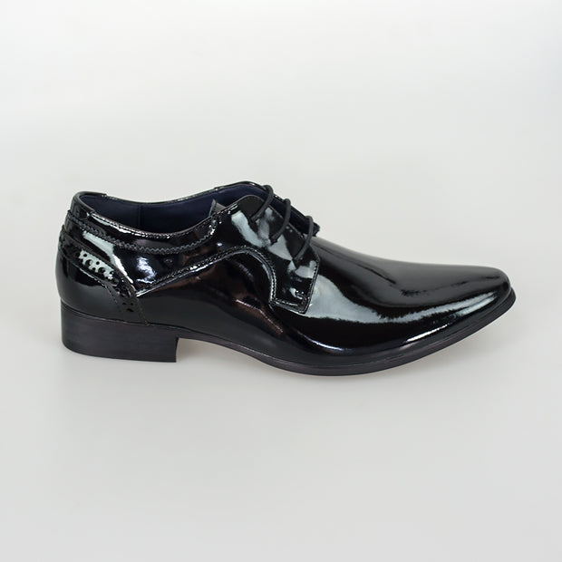 Scott Black Patent Lace Up Shoes
