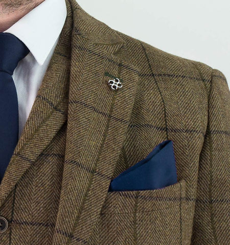 Sergio Tan Tweed Check suit