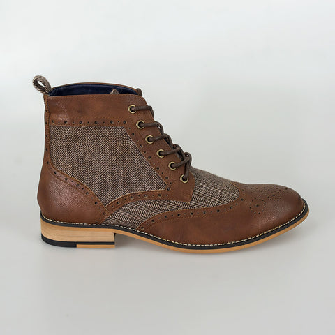 Sherlock Brown Lace Up Boots