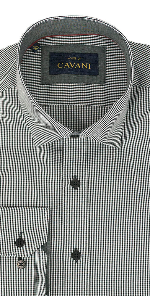 House Of Cavani CV602 Black Formal Smart Shirt