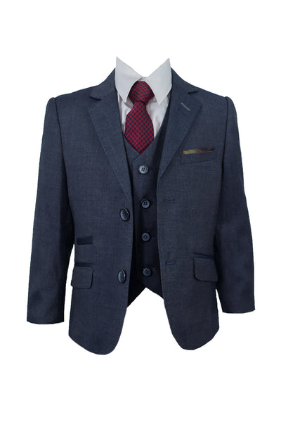 House Of Cavani Boys Childrens Steele Three Piece Wedding Suit