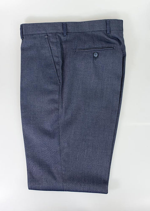 Steele Blue Slim Fit Trousers